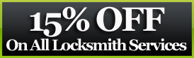 15% off ton all locksmith services